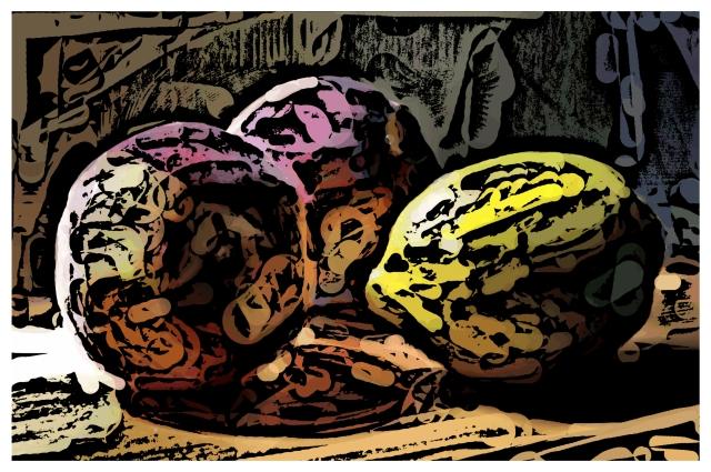 Sill-Life with Lemon...Woodcut 2011