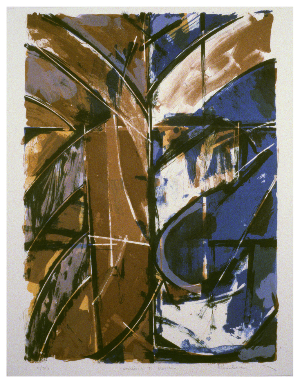 Morning and Evening 1983 lithograph - with Will Petersen / Plucked Chicken Press